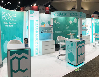 Person and Covey Trade Show Booth Design