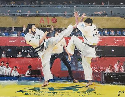 Luciano Basile - Kyokushin Karate KWU / 50x70cm