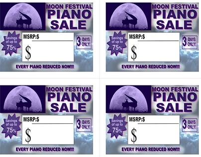 Sales Tags - Hollywood Piano...