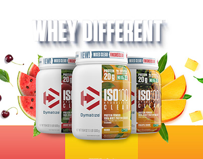 Dymatize Whey Different Campaign