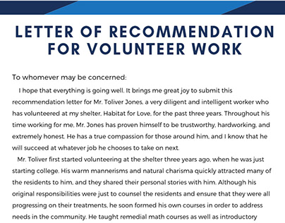Volunteer Letter Of Recommendation Sample from mir-s3-cdn-cf.behance.net