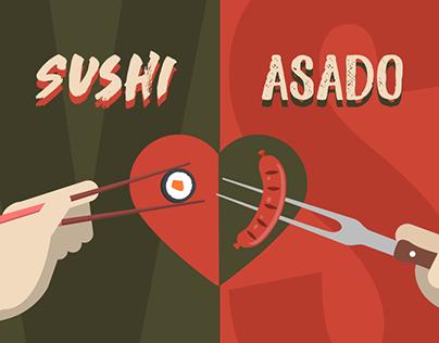 Infografía Sushi VS Asado