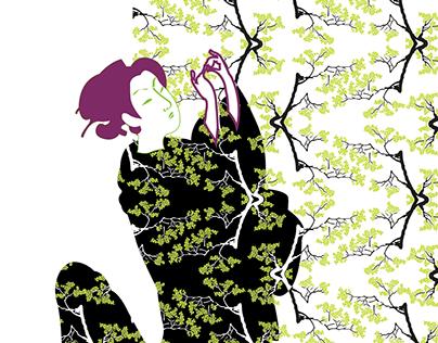 Ukiyo-e | Ilustração e Superfície