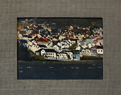 """Shores of Mjosa."" o/c 24x17,5 cm 2014"