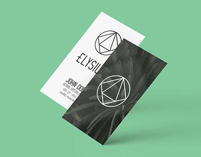 Elysium Spa Branding + Stationery