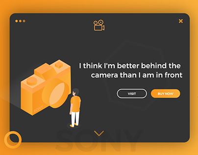 Isometric Camera Landing Page