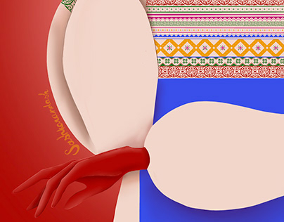 Textile design | Fashion scarf illustrations