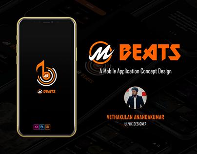 M Beats - A Mobile App Design