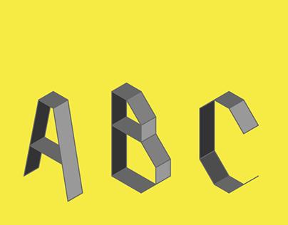 Folded Alphabet