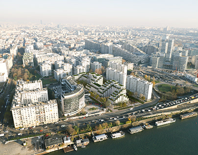 Residential complex near the river Seine.