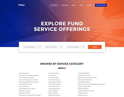 Finiac Website Mockup