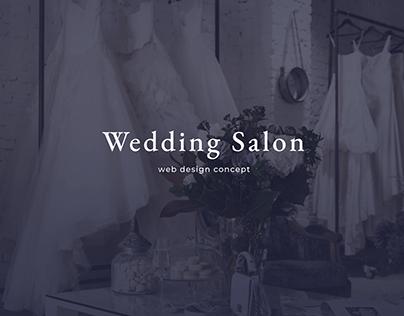 Wedding Salon Web Design Concept