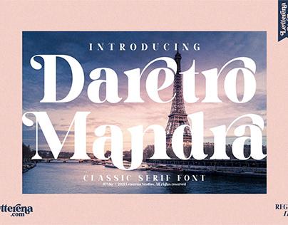 Daretro Mandra - Luxury Serif Font