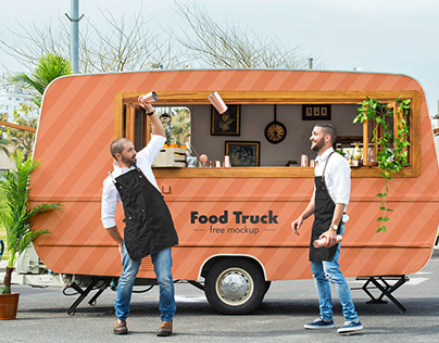 Free Food Truck Mockup