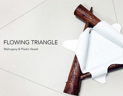 Flowing Triangle-wood&plastic vessel