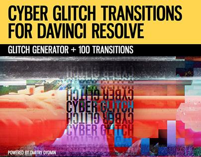 Cyber Glitch Transitions for DaVinci Resolve