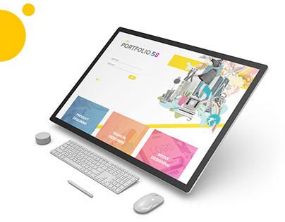 UI Designed for a Porfolio of a Design School