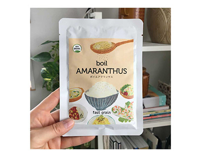 "Design of the package of ""boil A MARANTHUS"""