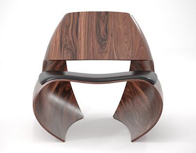Low poly Cowrie Chair l - Unwrap case study