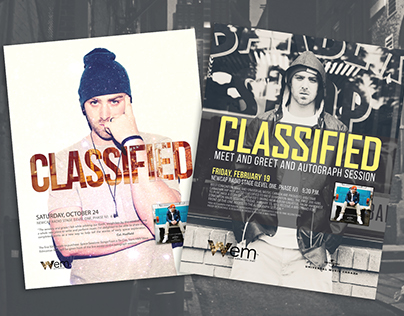 Classified Concert and Signing Posters