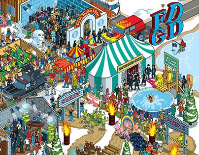 Frozen Dead Guy Days Festival Illustration