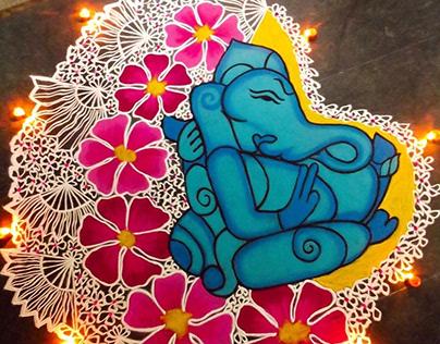 Rangoli Design Ganesha