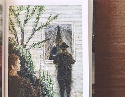 Paintings for novels of Turgenev.