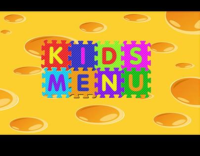 Kids Menu Animated Interface for a Website Restaurant