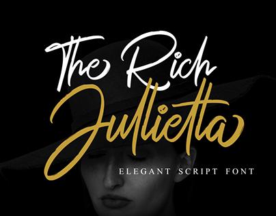 The Rich Jullietta Script Font