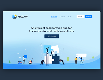 Landing page for collaboration product