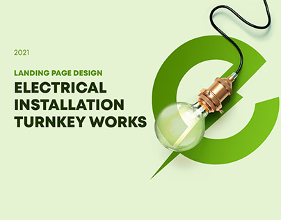 Landing page Electrical installation turnkey works