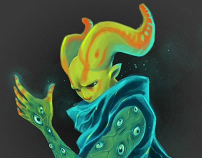 Alien character design concepts