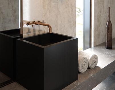 Contemporary Bathroom|CGI