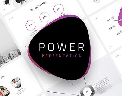Power-Minimal Presentation Template