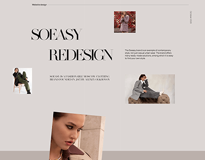 SoEasy - Online fashion store redesign concept