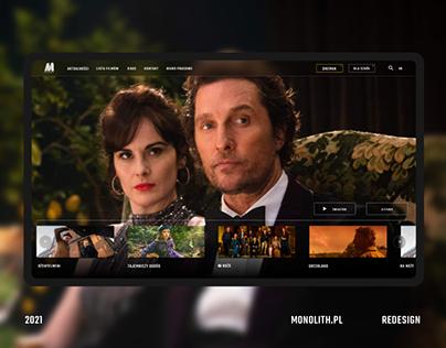 Monolith films – website redesign