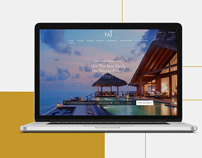 Taj Hotels UI Design