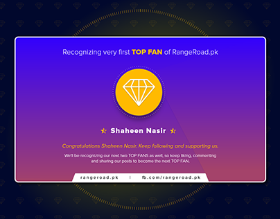 Recognizing Top Fans on Facebook
