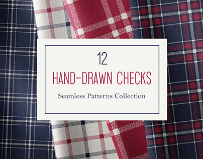 12 Hand-Drawn Checks Pattern Collection