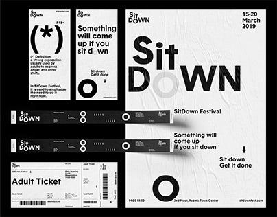 SitDown Festival Branding