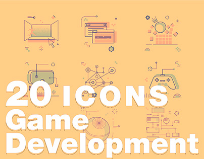 20 Icons Game Development Website