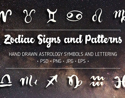 Zodiac Signs and Seamless Patterns