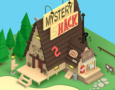 3D | Mystery Shack from Gravity Falls