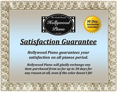 Guarantees and Waranties - Hollywood Piano...
