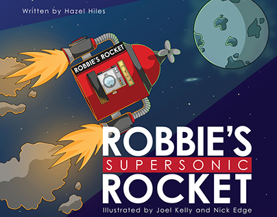 Robbie's Rocket - Children's Book Illustration