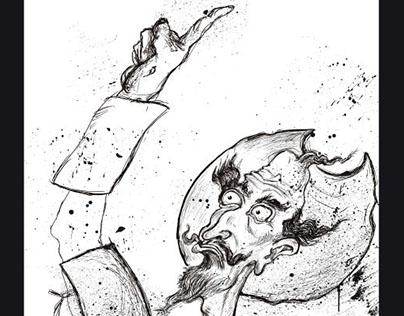 Don Quixote book cover illustration