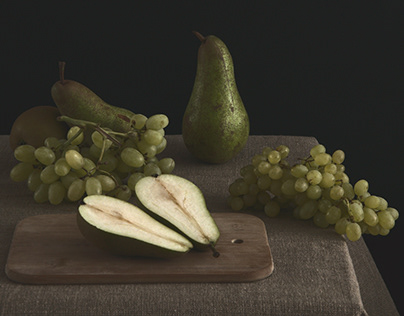 Still life inspired by baroque painting