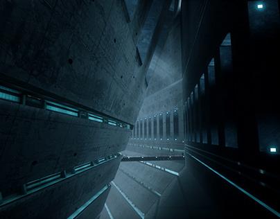 """""""Beneath concrete"""" UE4 level design"""