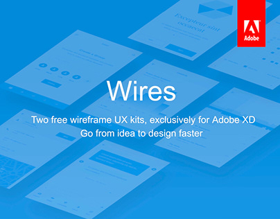 Wires, free wireframe kits for Adobe XD