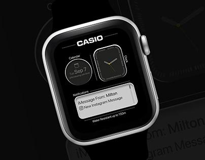 Casio Apple Watch Face UI Design